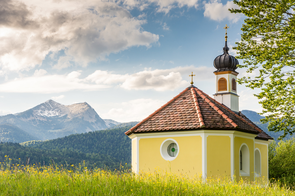 Chapel in the alps of bavria